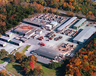 view from the air of J Gibson McIlvain lumber company