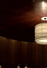 ceiling made from sapele wood