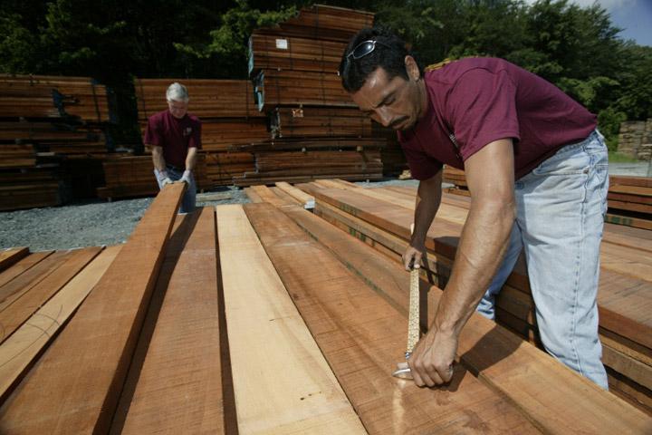 picking lumber at mcilvain