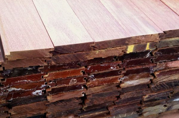 grooved ipe decking boards