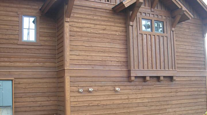 wavy edge cedar siding