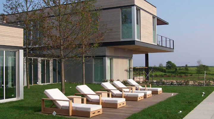 western red cedar house deck and chairs