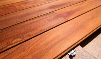decking boards ready for installation