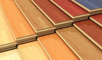 different color finishes of flooring boards